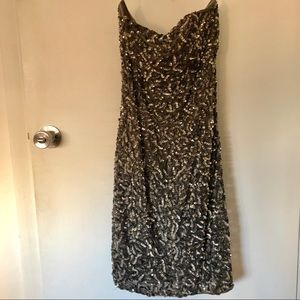 Alice and Olivia Strapless sequin dress, size 6